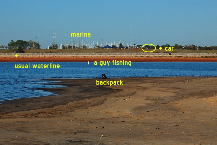 Bit dry at lake hefner photo essay once upon a silver moon for Lake hefner fishing