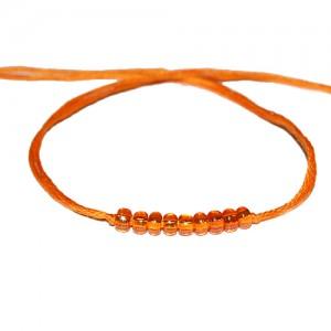 orange wish bracelet