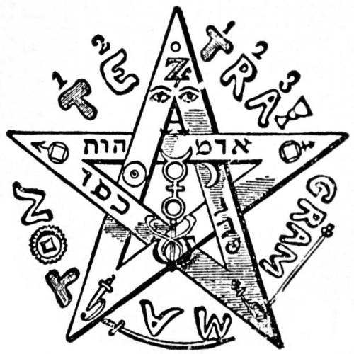 Tetragrammaton pentacle
